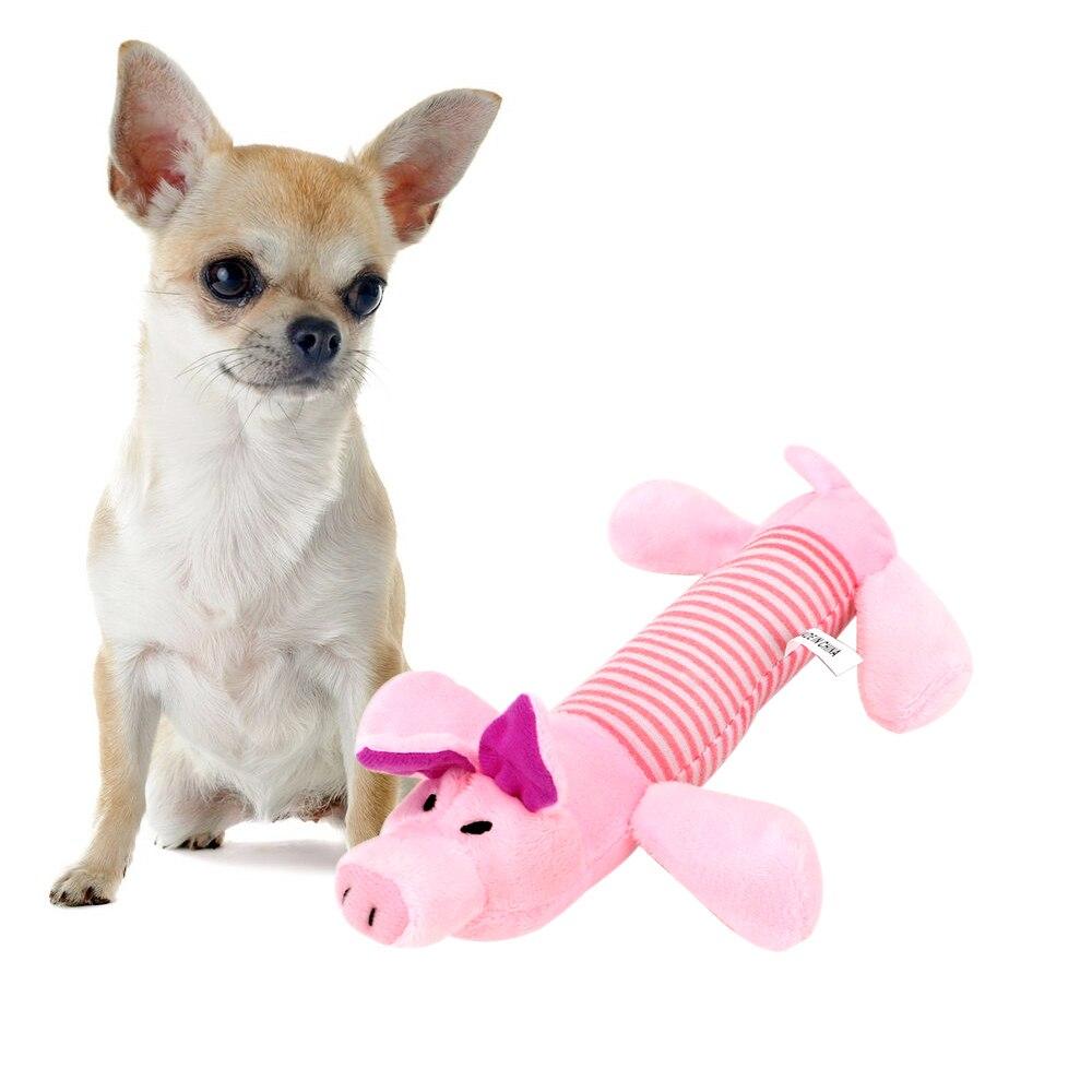 Пищащая Жевательная деталь, куклы, собака, кошка, флисовый питомец, слон, утка, свинья, подходит для всех домашних животных, долговечность-2