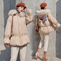 Down Cotton Jacket For Women Cold Winter Warm Big Fur Collar Hooded Parka Female Fur Thicken Large Size 5XL Coats 2018 P675