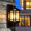 Ретро деревенский алюминиевый наружный настенный светильник балкон Walkway стеклянный тент Водонепроницаемый садовое освещение вилла Античн...