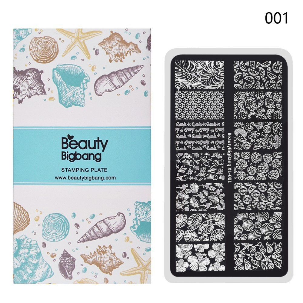 BeautyBigBang 6*12cm Stamping For Nails Summer Sea Life Pattern Nail Art Stamp Stencils Transfer Template Stamping XL-001