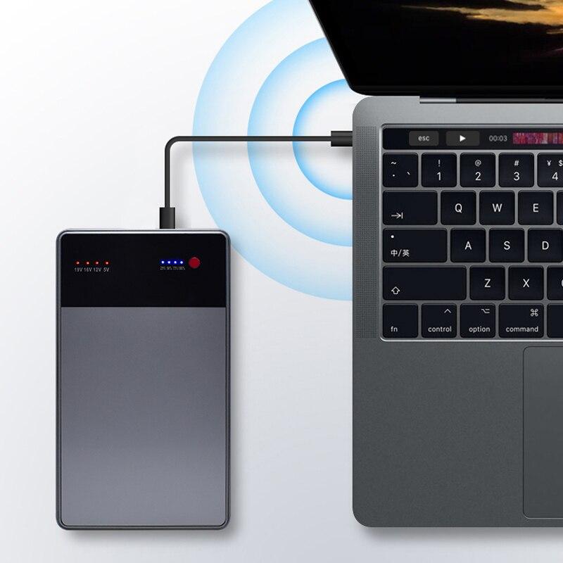 40000 mAh ordinateur portable batterie externe 3.5A 19 V DC 2 USB chargeur de batterie externe pour ordinateurs portables ordinateurs portables tablettes iPhone X 6 7 8 pour xiaomi