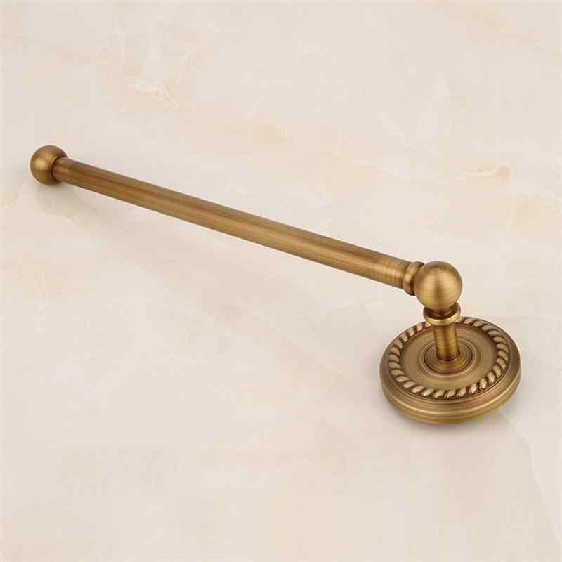 1 шт. вешалка для полотенец Настенная Ретро Одиночная штанга медная вешалка для полотенец бытовые принадлежности держатель для полотенец для ванной комнаты