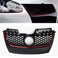Car Red Strip Front Center Grille Bumper Grill with Red Border For VW Jetta GTI GLI MK5 2006 2007 2008 2009