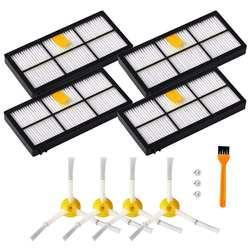 Аксессуары для iRobot Roomba 800 и 900 пылесос Series запасные части с 4 x фильтры, 4 x боковые щетки, 1 x Cleanin
