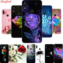 6.09 Cover For Huawei Y6 2019 Case Silicone TPU Soft Phone Case For Huawei Y6 Prime 2019 Back Cover Case Floral Coque Funda for huawei y6 2019 case silicone soft tpu back cover fundas y6 prime 2019 matte phone bumper case for huawei y6 prime 2019 6 09