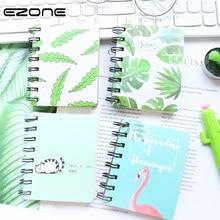 купить EZONE Coli Notebook Studnts Notes Spiral Notepad Fresh Fruit/Rabbit/ Flamingo Printed Traveler Diary Notebook Stationery Supply по цене 141.12 рублей