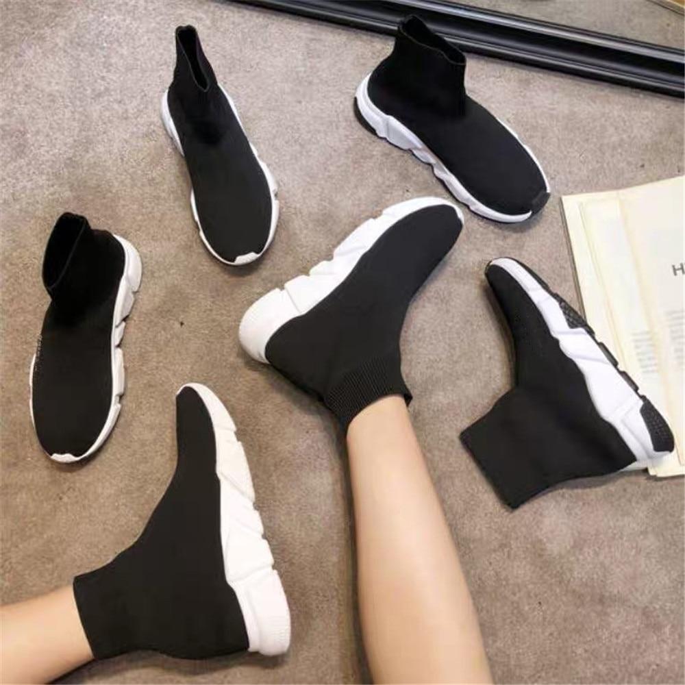 7 Lacets Chaussures De Plates 12 Tissu Pour Femmes 6 10 1 En 4 Entraîneur Chaussons Cuir Mode 13 Tricoté 8 3 9 Extensible Sortie 5 Chaussette 2 formes 11 Sans UUqwrZ5