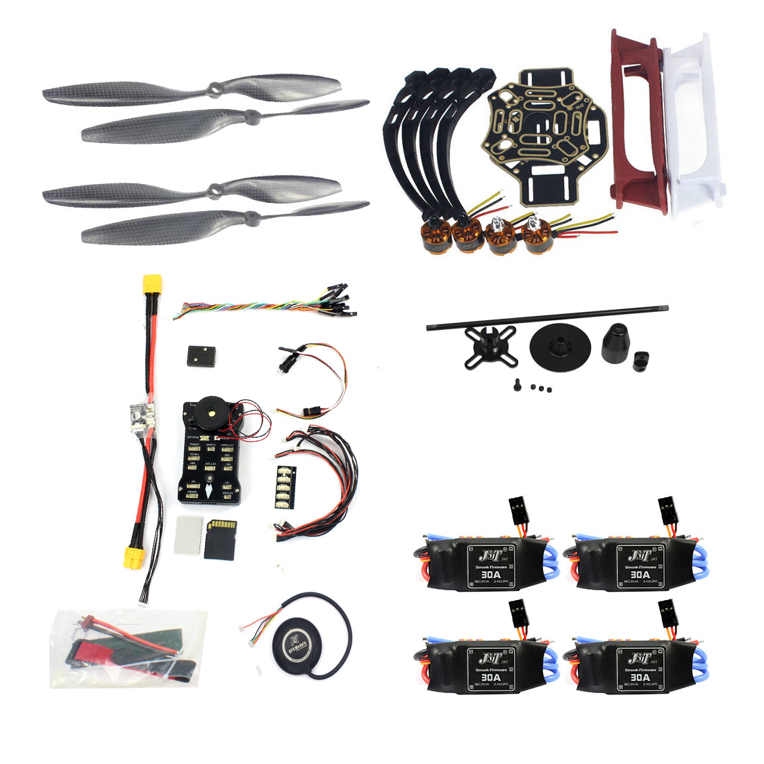 F02192 AD DIY FPV Drone Quadcopter 4 axle Aircraft Kit F450 450 Frame PXI PX4 Flight