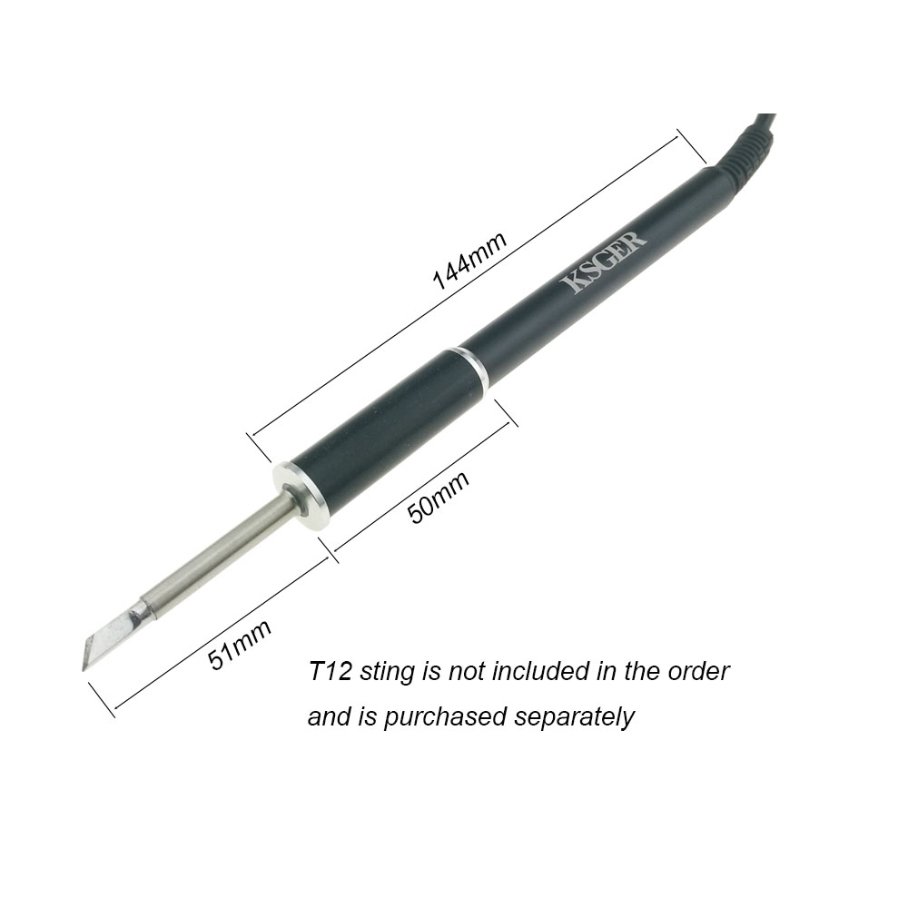 Tools : KSGER T12 Aluminum Alloy FX9501 Handle STM32 OLED Soldering Iron Station Welding Tips Repair Electronic Tool