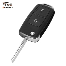 Dandkey Car Remote Key 2 Buttons Replacement Case FOB Shell For VOLKSWAGEN MK4 Seat Altea Alhambra Ibiza With logo