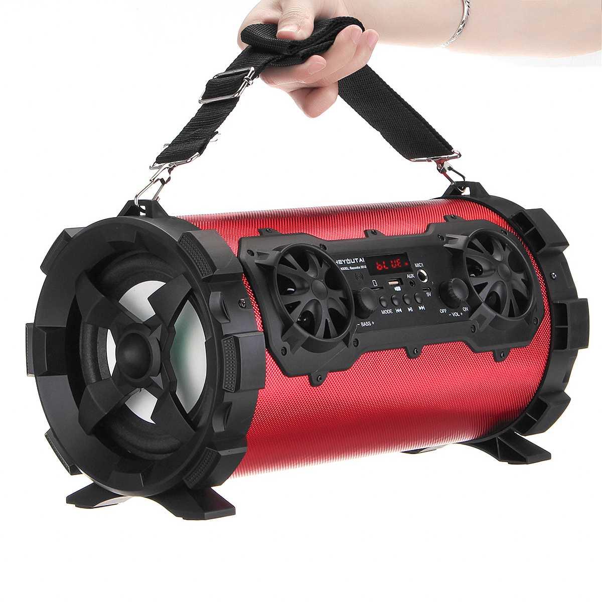 15 W haut-parleur bluetooth sans fil stéréo basse HIFI haut-parleur Subwoofer AUX USB TF carte FM Radio Portable lecteur de musique en plein air