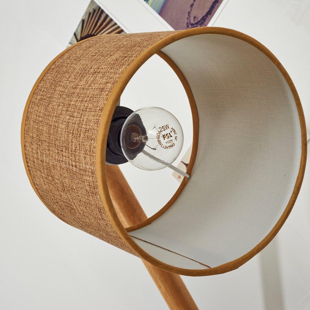 Bois/bambou créatif réglable support lampe de Table pour la maison E27 vis lampe de Distribution pour chambre créative lampe de bureau - 5