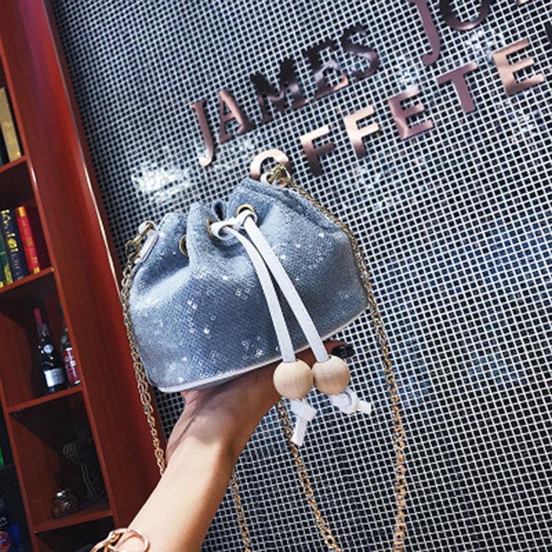 bc189173ed92 2019 Женская Блестящая блестящая сумка-тоут из искусственной кожи на плечо  сумка-портфель Cosebody