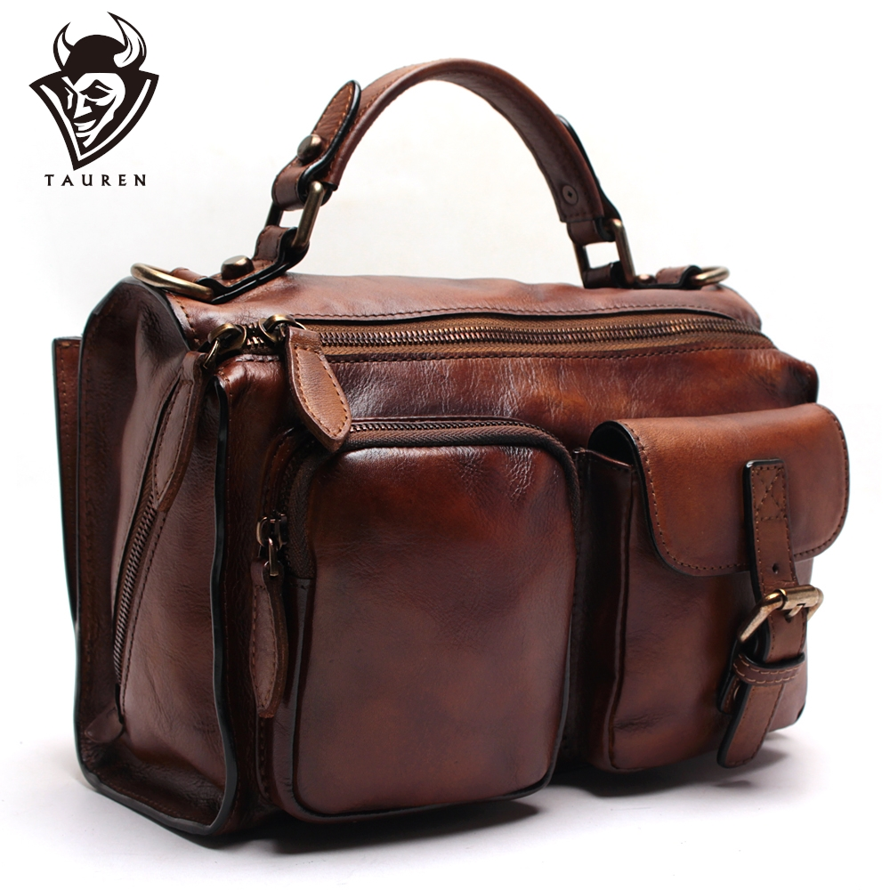 Nouveau sac à main femme essuyant à la main sac à bandoulière en cuir sac Messenger rétro en cuir tanné végétal sac en cuir suédé