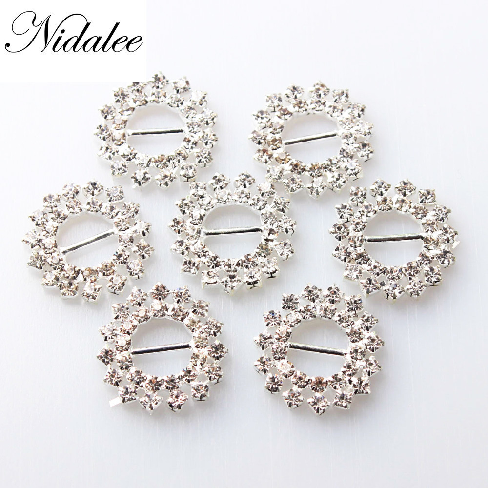 Buckles & Hooks Nidalee 21mm Round Buckles,eco-friendly Various Shape Crystal Rhinestone Buckles For Wedding Invitations Chair Sash Diversified In Packaging