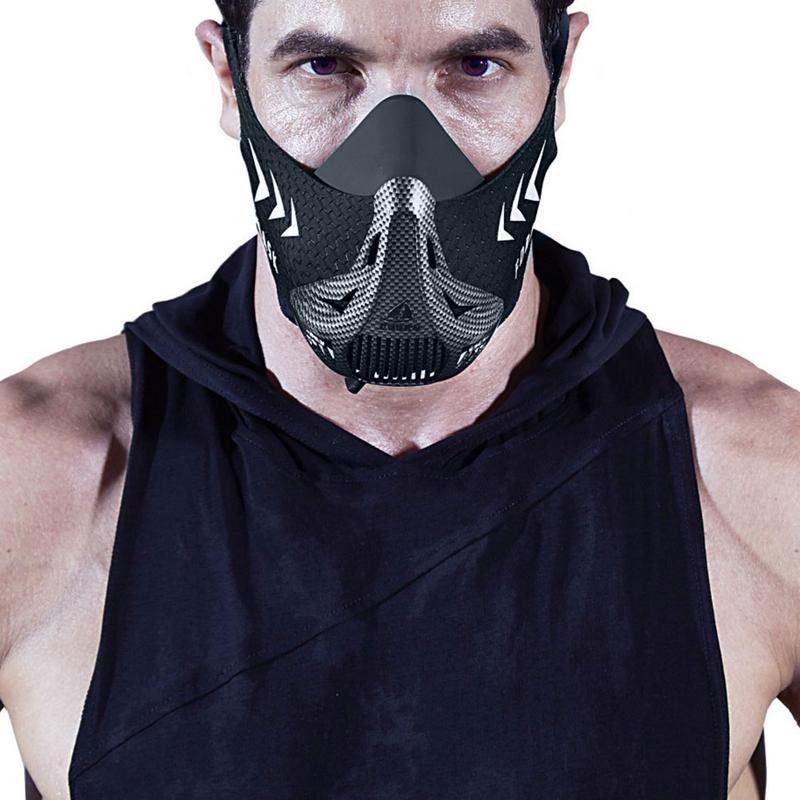 Masque d'entraînement masque de Sport Fitness résistance à la course Cardio masque d'endurance pour l'entraînement de Fitness masque de Sport avec sac de transport