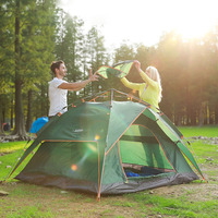 Outdoor Tents Professional 3 4 Person Tent Hydraulic Automatic Windproof Family Double Layer Fast Open Hiking Camping Tentage
