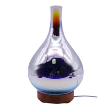 HOT!100Ml Glass Aromatherapy Humidifier Essential Oil Diffuser Ultrasonic 3D Aromatic Night Light Aroma O