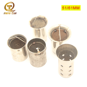 1PC Motorcycle Exhaust Pipe Catalyst Muffler Silencer Noise Sound DB Killer 51MM 48mm 61MM for Off Road Bike Car Motor(China)