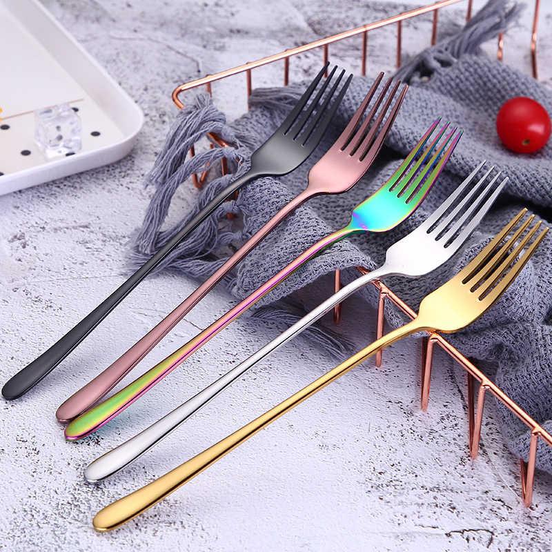 Vacclo fourchettes à dîner colorées | En acier inoxydable, cuillère à soupe créative fourchette à Steak, Cuisine de l'ouest, Restaurant hôtel vaisselle de mode