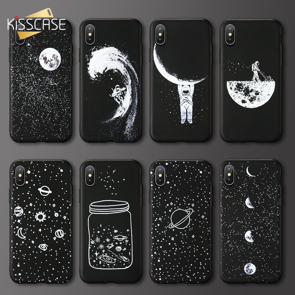KISSCASE Cool Moon Pattern <font><b>Phone</b></font> <font><b>Case</b></font> For <font><b>Samsung</b></font> <font><b>Galaxy</b></font> J3 J5 J7 <font><b>A3</b></font> A5 A7 <font><b>2017</b></font> 2016 2018 A8 A9 Fashion Fundas Cute Covers Coque image