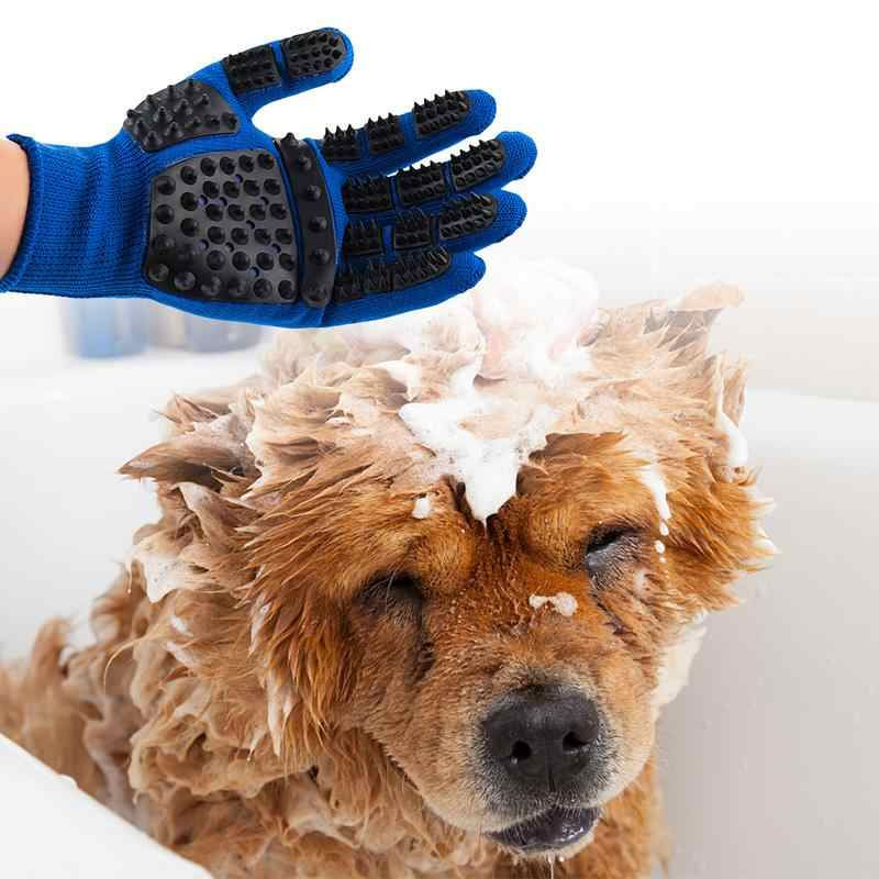 1pc Pet Grooming Gloves Bath Massage Thickened Scratch Resistant Cats Dogs Floating Hair Removing Gloves