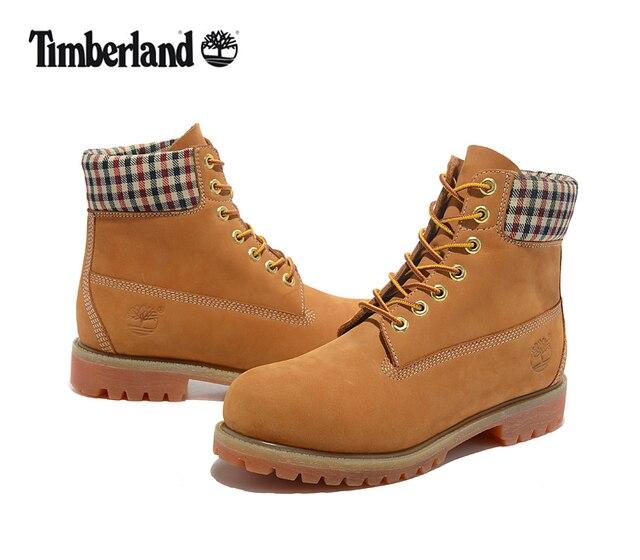 ec08d75cd50 TIMBERLAND hombres de alta-Top de comprobar Premium usable 10066 botas para  hombre al aire