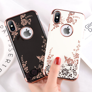 Moskado Phone Case For iPhone X XR XS Max 7 8 6 6s Plus Fashion Plating Rose Gold Black White Hard PC Phone Cases Back Cover(China)
