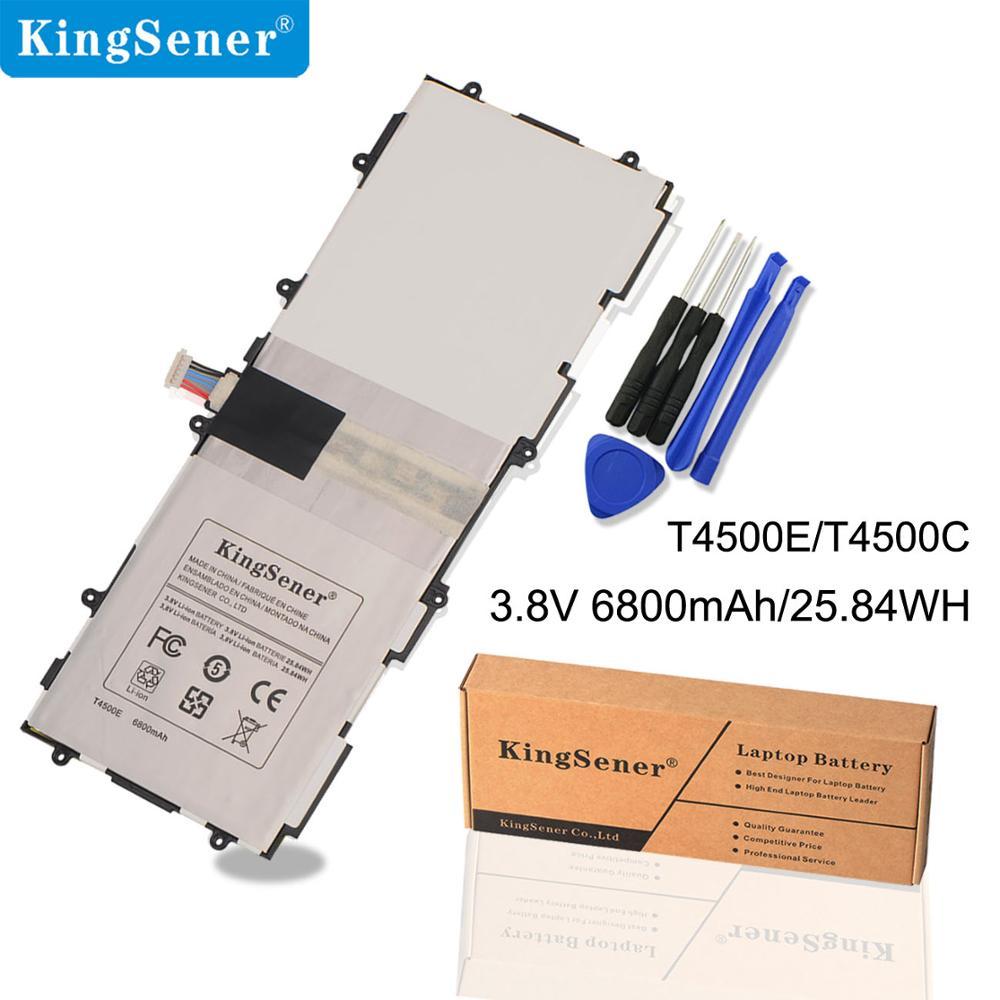 KingSener T4500E T4500C החלפת סוללה עבור Samsung Galaxy Tab 3 10.1 P5200 P5210 P5220 P5213 GT-P5200 SP3081A9H 6800mAh