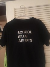 School Kills Artists Double Print Aesthetics Graphic Tee   Grunge Fashion tumblr Tops