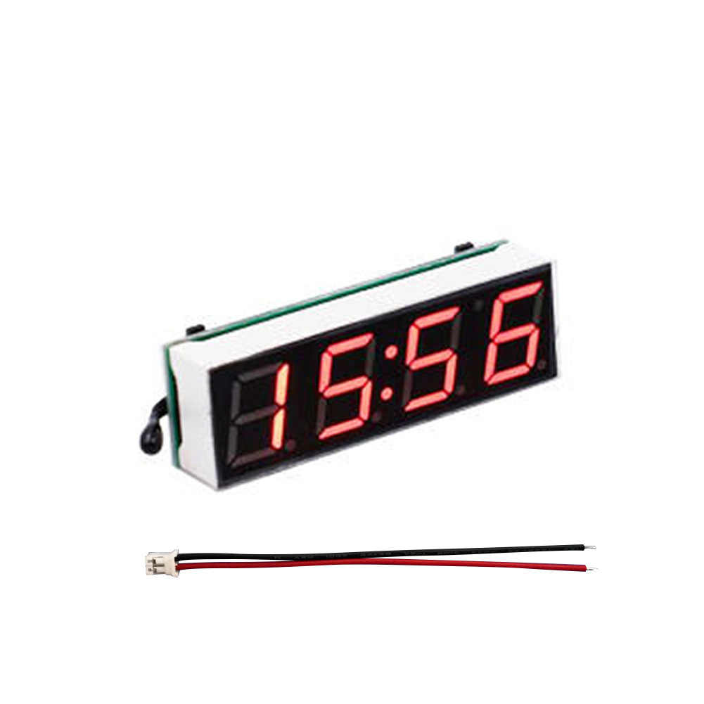 DC3.8-30V 3 in 1 Car Vehicle Digital Tube LED Voltmeter Thermometer Time Automobile Table Clocks Dial