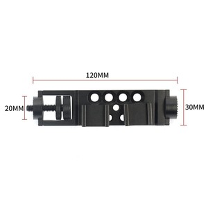 Image 5 - O Ring Extension Arm Adapter Klem voor DJI Osmo Mobiele 2 Video Microfoon & LED Light Hot Shoe 1/4 threads & Rosette Mount