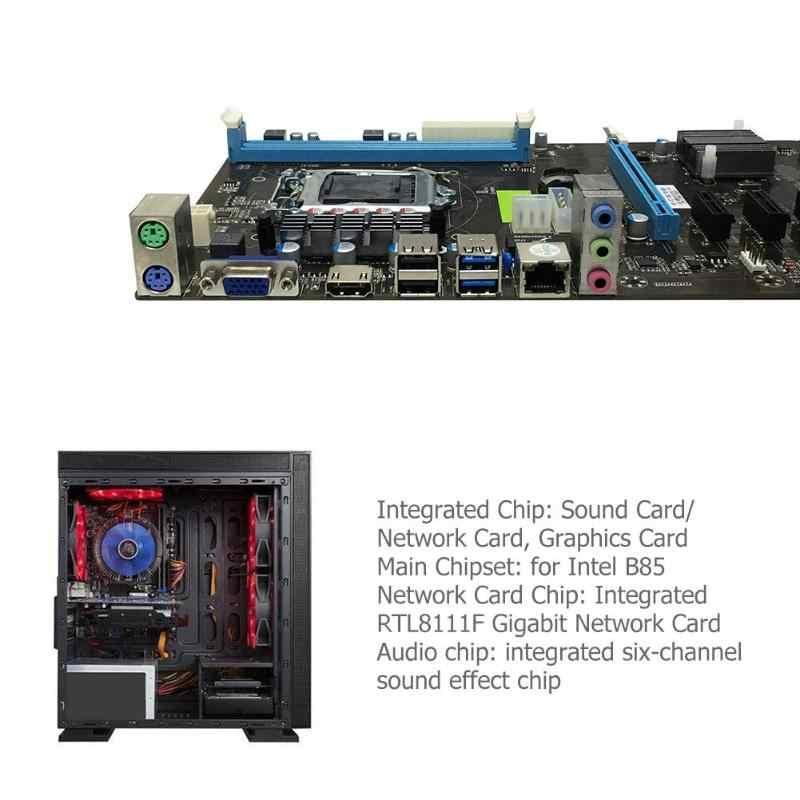 B85-BT جهاز كمبيوتر شخصي بطاقة الفيديو اللوحة LGA 1150 PCI-E 7 2XDDR3 استبدال H81 6 ميناء اللوحة الرئيسية