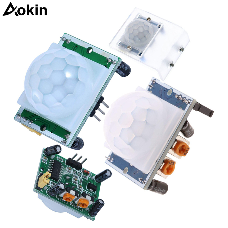 US $0 54 41% OFF|HC SR501 Adjust IR Pyroelectric Infrared PIR Motion Sensor  Detector Module for Arduino for raspberry pi kits-in Demo Board