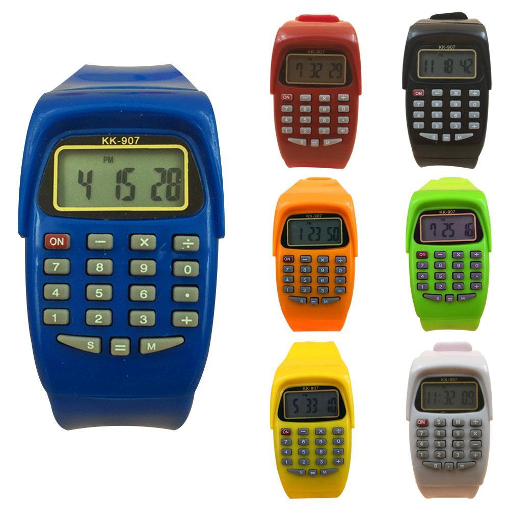 Exam Artifact Children Sports Digital Square Wrist Watch Calculator Examination Tool Kids Gift
