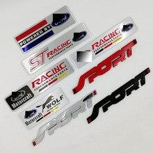 Аксессуары для стайлинга автомобилей эмблема значок наклейка Наклейка Стикер для автомобиля ST гонки Мотоспорт для FORD Focus 2 Focus 3 Fiesta Kuga FUSION Mondeo