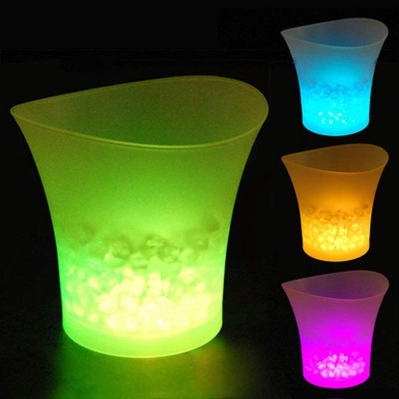 LED Ice Bucket Champagne Wine Beer Cooler Xmas Party 5L