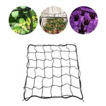 Гибкая садовая упругая нейлоновая трельяжная сетка с 4 стальными крючками для растений бобы для выращивания альпинизма забор палатки