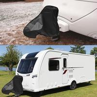 Universal Waterproof Dustproof PVC Caravan Towing Hitch Cover Trailer Rain Snow Dust Protecter