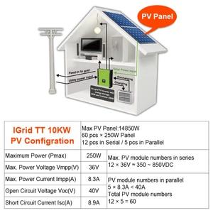 Image 5 - EASUN POWER 10KW Solar Inverter 48V 380V Grid Tie Inverter 3 Phase On Grid Off Grid  Inverter With Max Solar Power 14850W MPPT