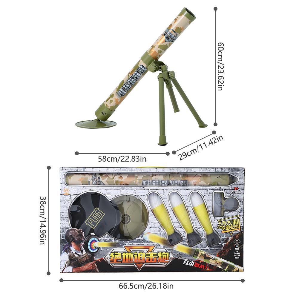 Garçon tir jouets Simulation Cool modèle enfants jouet enfants en plein air amusant interactif jouet canon électrique lancement mortier - 6