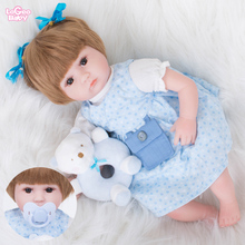 цены на Logeo Baby 42cm reborn baby doll lovely Lifelike Girl princess toy Newborn Bebes Reborn lol Dolls Dollhouse Toys Birthday gift  в интернет-магазинах
