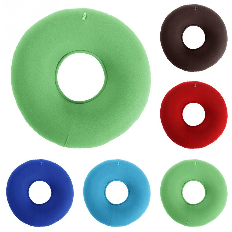 Inflatable Vinyl Ring Round Seat Cushion Medical Hemorrhoid Pillow Donut Free Pump Rubber Inflatable Seat Pad Inflatable Vinyl Ring Round Seat Cushion Medical Hemorrhoid Pillow Donut Free Pump Rubber Inflatable Seat Pad 34*12 cm #125