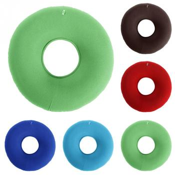 inflatable vinyl ring round seat cushion and donut shaped medical hemorrhoid pillow