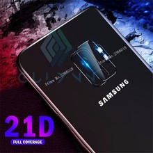 2PCS 21D Tempered Glass Protector Full Screen Protective Film Cover For Samsung S10 10E Plus S9 S8 M10 20 Back Rear Camera Lens