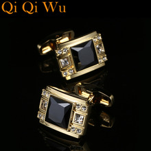 Luxury Cufflinks for mens shirt High Quality Fashion Cufflink Wedding Gift Brand Jewelry best is yet to be grow old with me