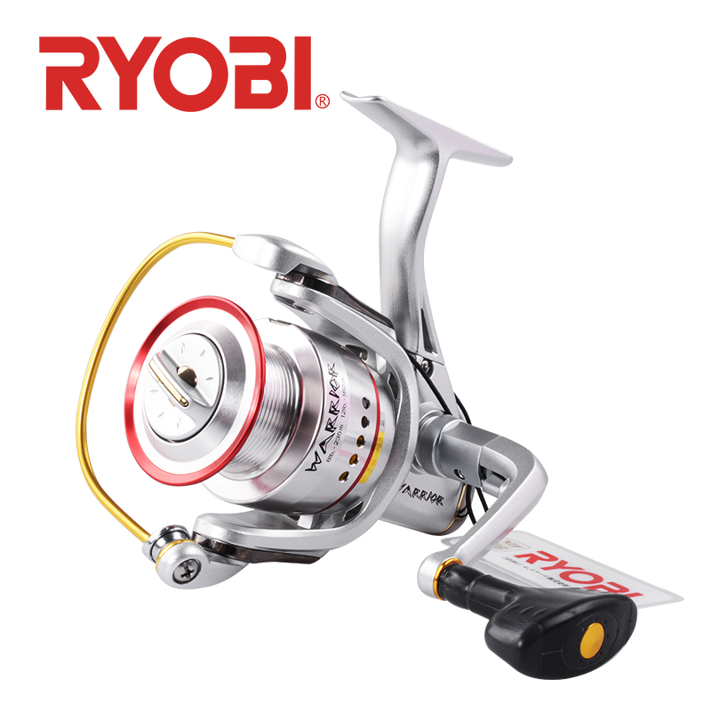 <font><b>RYOBI</b></font> WARRIOR SI Spinning Reel fishing reels 1000 2000 <font><b>3000</b></font> 4000 6000 8000 Saltwater Wheel 6+1BB Gear Ratio Metal Body image