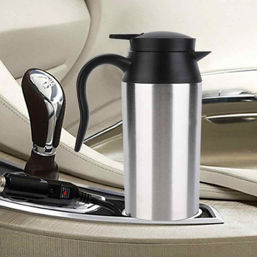 800ml Portable Car Electric Kettle Travel Car Cigarette Lighter DC12V/24V Hot Water Kettle Fast Boiling For Tea Coffee