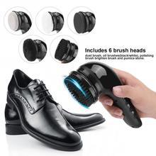 Портативный ручной автоматический электрический прибор для чистки обуви Автоматическая полировальная машина для обуви щеточка для чистки...