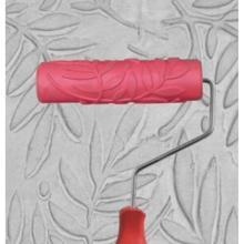 7 дюймов листья шаблон креативная краска резиновый ролик домашний магазин Настенный декор